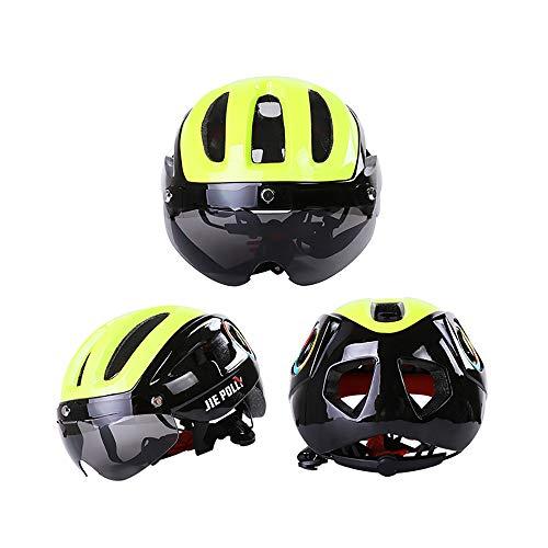 Adult Helmets Mountainbike Radhelm,Fahrradhelm, Erwachsene Sportradhelm, Verstellbarer Eislaufhelm, Abnehmbarer Magnetischen Schutzbrille,für Unisex Atmungsaktiver Fahrradhelm