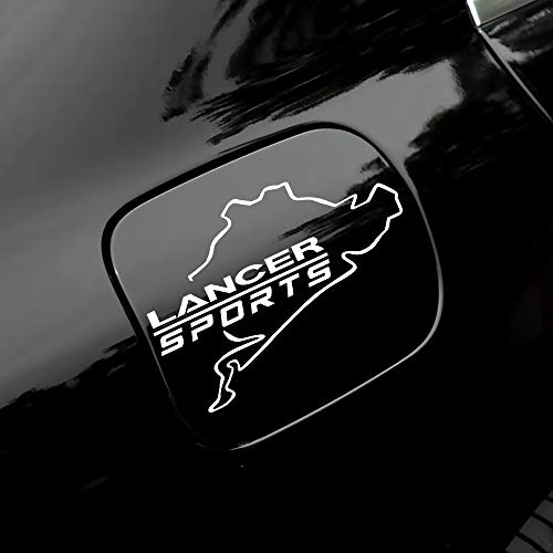 1 Uds.Pegatina Decorativa De Tapa De Tanque De Combustible CalcomaníAs De Tanque De Aceite Etiqueta De Estilo De Coche, Para Mitsubishi Lancer
