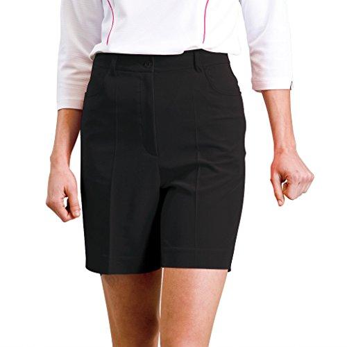 Monterey Club Women's Classic Stretch Golf Shorts #2834 (Black, Size:12)