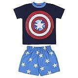 Avengers Capitan America Camiseta y Pantalones Cortos para Niños, Pijama de 2 Piezas...