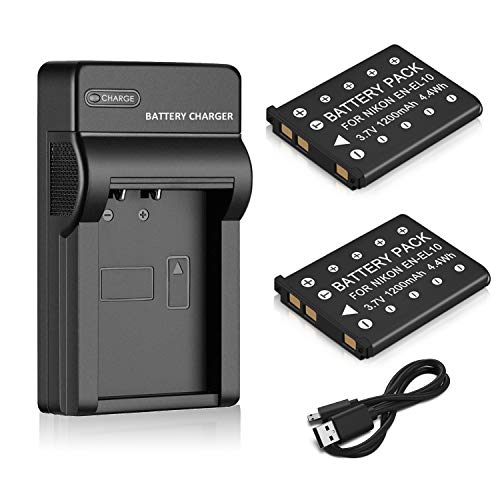 Venwo 2 Pack EN-EL10 Battery and...