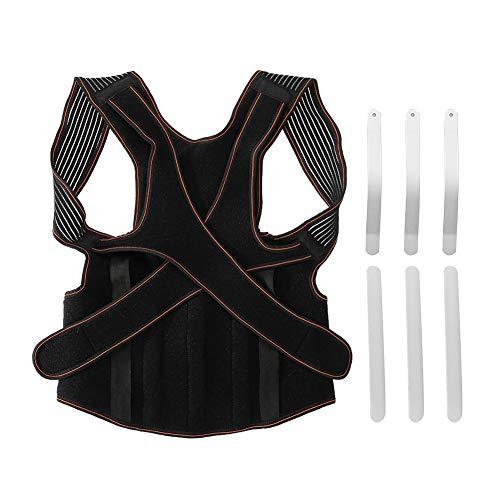 Corrector de postura para mujeres y hombres, soporte de hombro ajustable, alisador de espalda para soporte de clavícula(L)