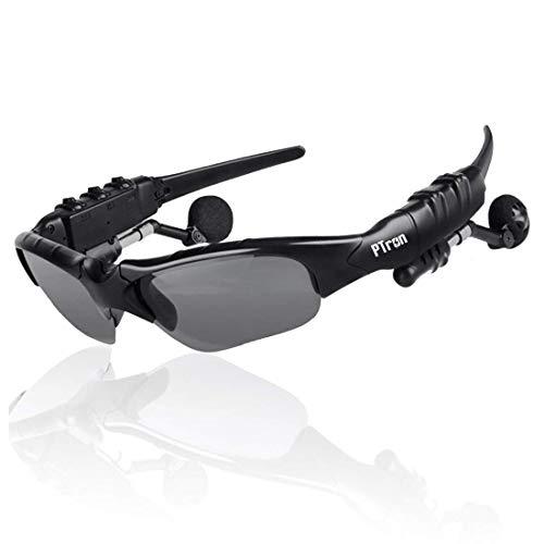 PTron Viki Gafas de Sol con Auricular inalámbrico Bluetooth Integrado para Smartphone móvil iOS Android iPhone