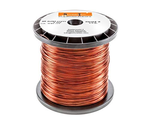 Kupferlackdraht 3kg Ø 2,00 mm CU Lackdraht Grad 2 CUL Kupferdraht Gewicht 3 Kilogramm Durchmesser 2,00 Millimeter Wickeldraht Kupfer Draht nach IEC 60317-13