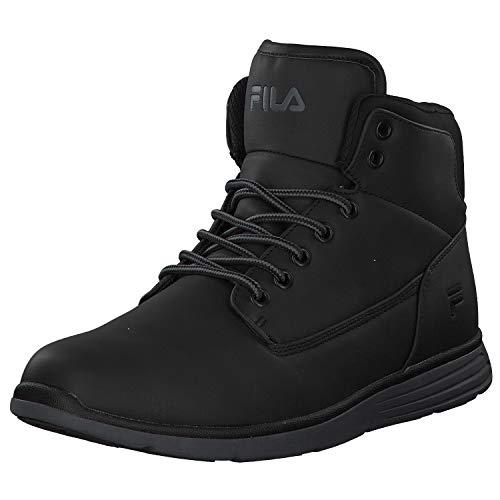 Fila Mens Lance mid Sneaker, Black/Black