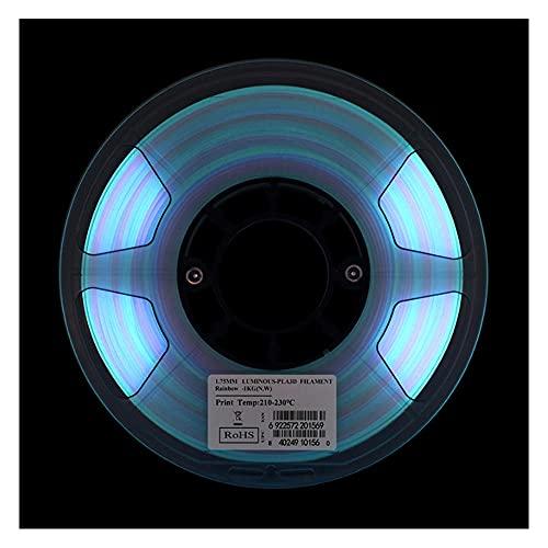 PLA-Filament 1,75 mm, Glühen im dunklen Multicolor 3D-Druckerfilament, 3D-Druck-PLA-Filament 1kg-Spule
