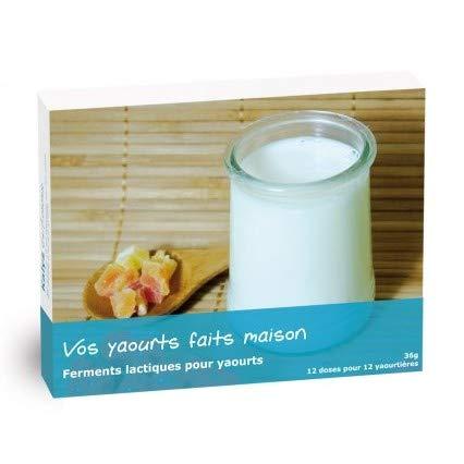 Cuisine Moléculaire - 12 sachets de Ferments lactiques pour Yaourts - 100 pots