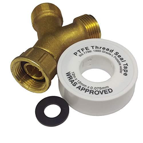 3/4' Brass Washing Machine Y Piece Splitter Loose Union Type...