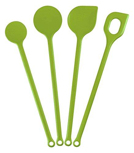 Kigima Kochlöffelset 4 Stück Kunststoff Grün