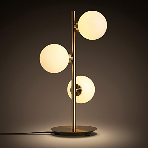 CKH Nordeuropa Set met 3 lampen, kop, bal, tafellamp, woonkamer, studeerkamer, eenvoudige tafellamp, stekker, schakelaar, ijzeren lampenkap