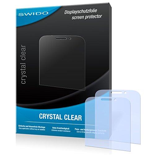 SWIDO Bildschirmschutz für BlackBerry Classic [4 Stück] Kristall-Klar, Hoher Festigkeitgrad, Schutz vor Öl, Staub & Kratzer/Schutzfolie, Bildschirmschutzfolie, Panzerglas Folie