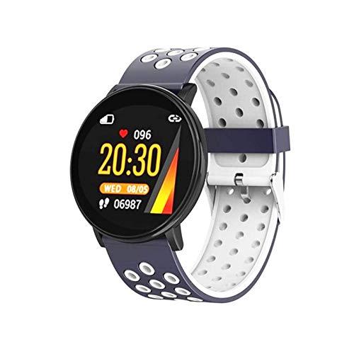LLTG W8 Reloj Inteligente para Hombres y Mujeres, Pantalla de Color Bluetooth Impermeable Tasa del corazón Monitor de sueño Monitor de Apenas Fitness Tracker Sports Pulsera Pulsera Inteligente,E