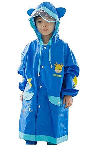 Korean Lovely bébé imperméable Mode enfants pluie Bleu Girafe S