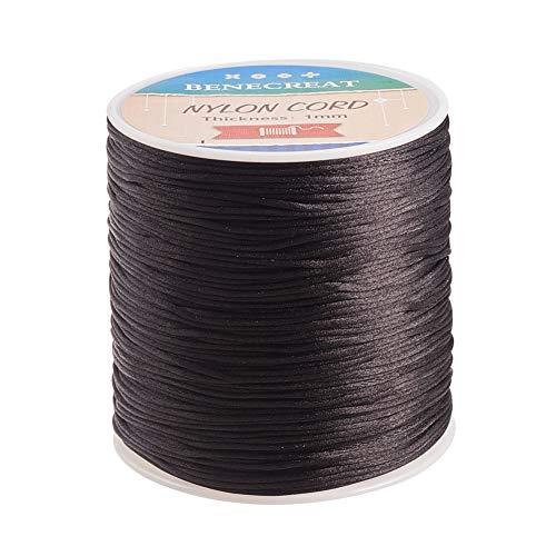 BENECREAT 200m 1mm Cordón de Seda para Collar Pulsera Cuerda de Seda de Cuentas...
