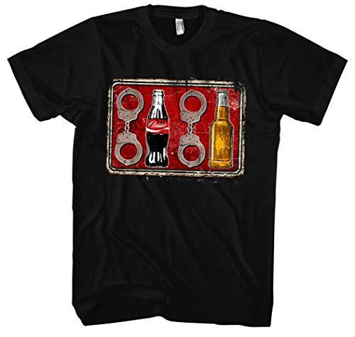 Acht Cola Acht Bier Männer Herren T-Shirt | Fussball 1312 ACAB Hooligan Ultra (L)