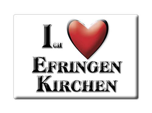 Enjoymagnets EFRINGEN Kirchen (BW) Souvenir Deutschland Baden WÜRTTEMBERG Fridge Magnet KÜHLSCHRANK Magnet ICH...
