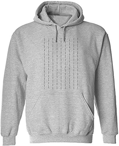 Sudadera con capucha con diseño de palabras de lucha, gris, L
