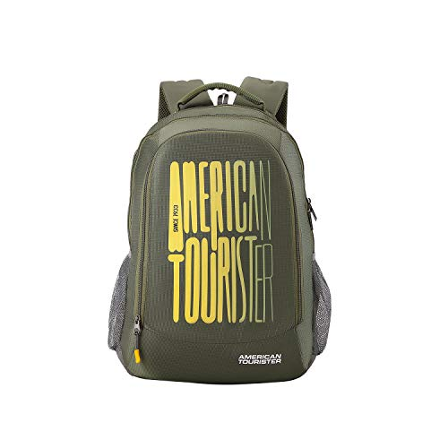 American Tourister 32 Ltrs Olive Casual Backpack (AMT FIZZ SCH BAG 03 - OLIVE)