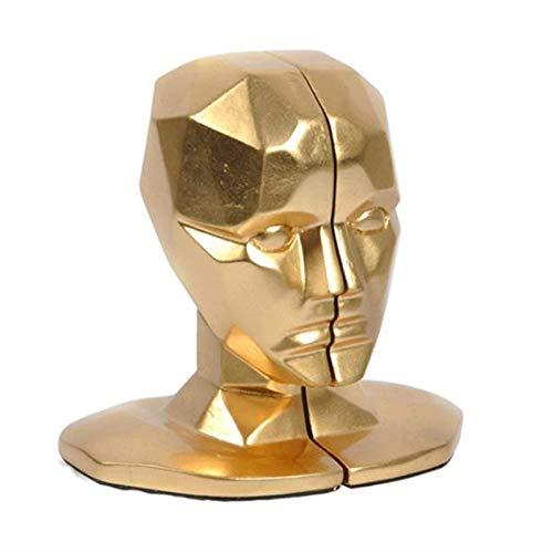 Statue figuur sculptuur beeldje, modern creatieve hars gouden Europese studie van de Office Decoraties menselijk gezicht hersenen boekensteunen afbeelding handwerk beeldje decoratie kunst S