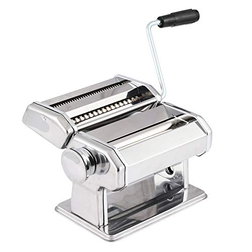Pasta Maker Machine Hand Crank  Roller Cutter Noodle Makers Kitchen Aid Homemade Noodles Spaghetti Fresh Dough Making Tools Rolling Press Kit Noodles Steamed Bus Dumnplings Wonton Rolling Machine
