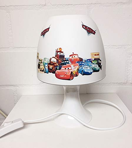 ✿ Tischlampe ✿ CARS AUTOS personalisiert mit oder ohne Name ✿ Tischleuchte ✿ Schlummerlicht ✿ Nachttischlampe ✿ Lampe ✿