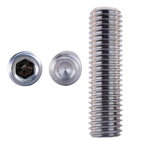 Vis sans tête M10 X 70 DIN 916 avec pointe de coupe Acier inoxydable A2 (10 pièce) - V2A Vis de serrage