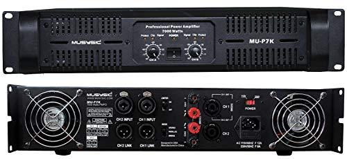 MUSYSIC Professional 2 Channel 7000 Watts DJ PA Power Amplifier Signal out MU-P7K