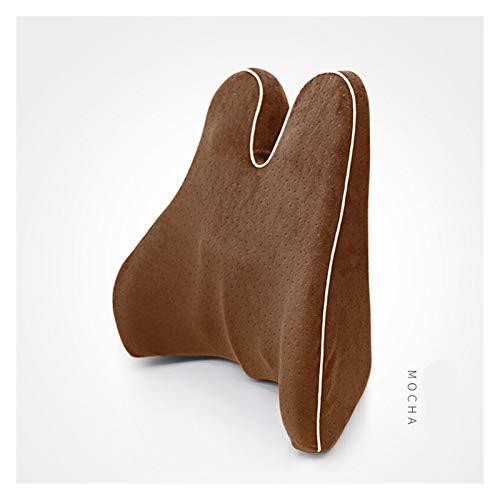GF 2020 Memory Foam Waist Lombar Side Supporto Lato Cuscino Cuscino Cocciceo Protezione Ortopedica Seggiolino Auto Seggiolino per uffici Sedia Sedia Indietro Cuscino (Color : Mocha)