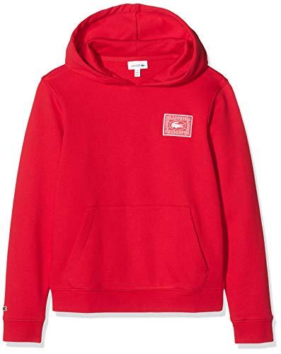 Lacoste Jungen Sj9504 Sweatshirt, Rot (Rouge 240), 12 Jahre (Herstellergröße: 12A)
