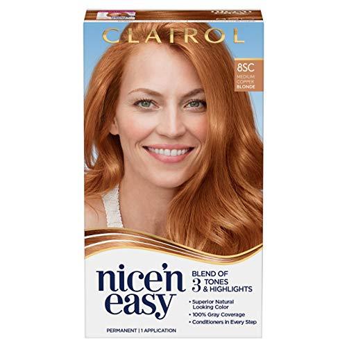 Clairol Nice'N Easy Permanant Hair Color, 8SC Medium Copper Blonde, Pack of 1