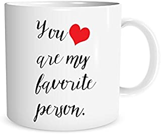 You Are My Favorite Person with Red Heart 11 oz. Mug Mug, Girlfriend/Boyfriend Gift