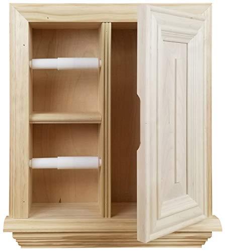 Wood Cabinets Direct Havana Toilet Paper Holder, Unfinished Pine