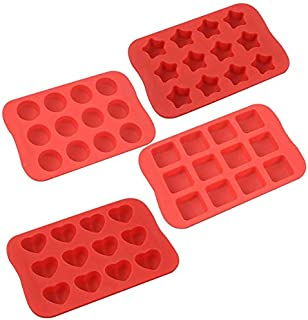 COLIBROX Silicone Baking Mold, Chocolate Molds&Candy Molds Set, Tray 4-in-1 Silicone Molds Set for Cupcakes,Muffins,Soap a...