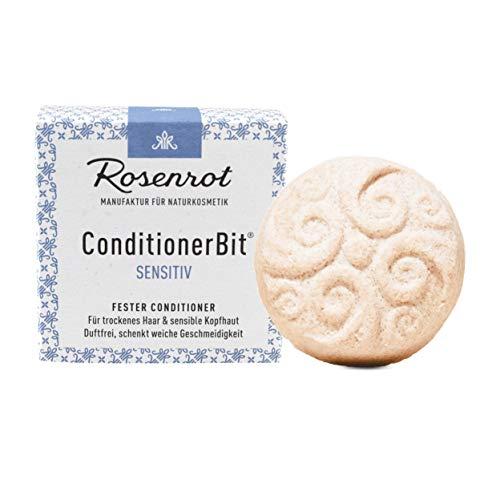 Rosenrot Naturkosmetik - ConditionerBit® - fester Conditioner Sensitiv - Für trockenes & sprödes Haar - Verbessert Kämmbarkeit - Sorgt für weiche, geschmeidige Haare
