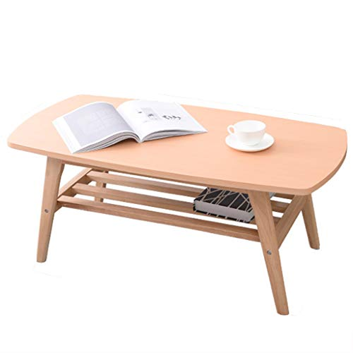 Tables basses Bois Massif Petite Mini Petite Chambre carrée Petit Appartement étude Balcon Salon créative Commode (Color : Wood, Size : 100 * 50 * 42cm)