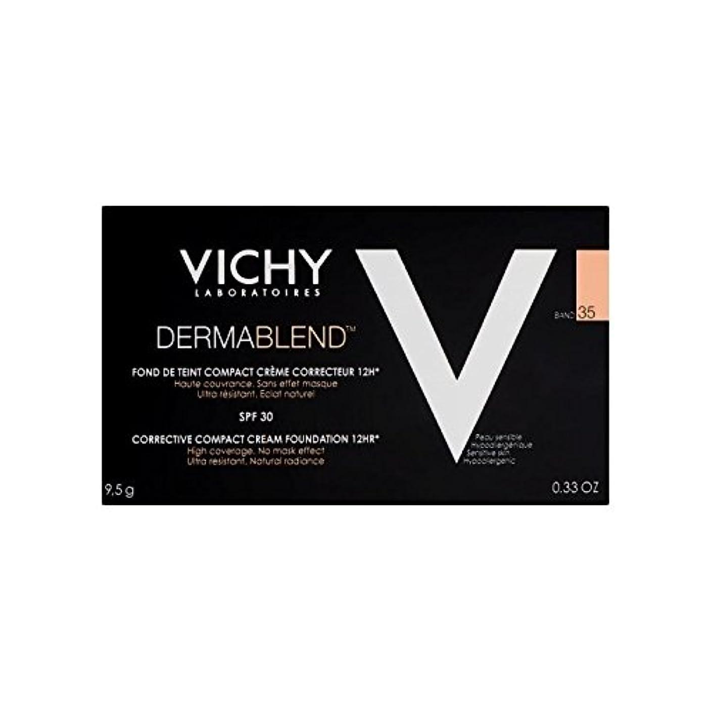 そんなに悪意心臓Vichy Dermablend Corrective Compact Cream Foundation Sand 35 (Pack of 6) - ヴィシー是正コンパクトクリームファンデーション砂35 x6 [並行輸入品]