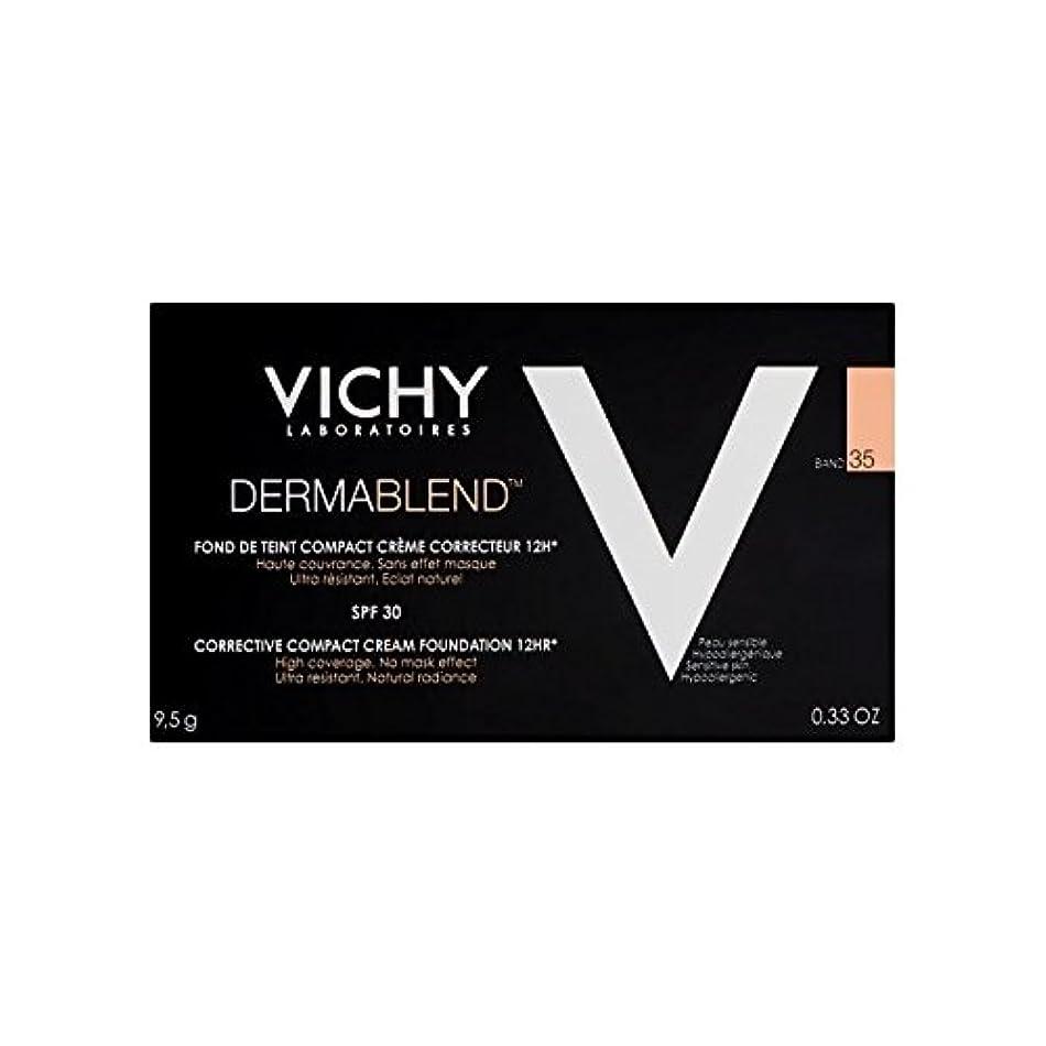 に対応折行進ヴィシー是正コンパクトクリームファンデーション砂35 x2 - Vichy Dermablend Corrective Compact Cream Foundation Sand 35 (Pack of 2) [並行輸入品]