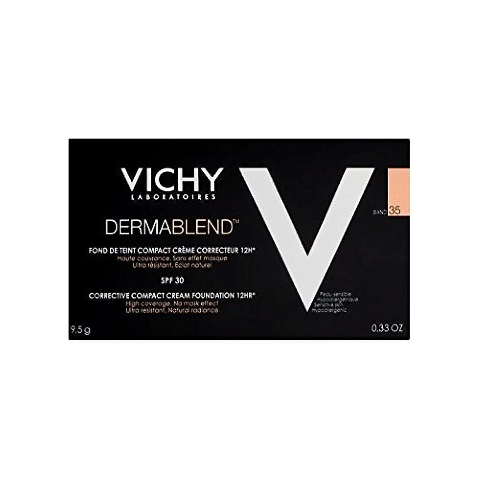 ヘッジ人質ティームヴィシー是正コンパクトクリームファンデーション砂35 x4 - Vichy Dermablend Corrective Compact Cream Foundation Sand 35 (Pack of 4) [並行輸入品]