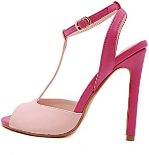 Slotted Stiletto Heeled Sandals