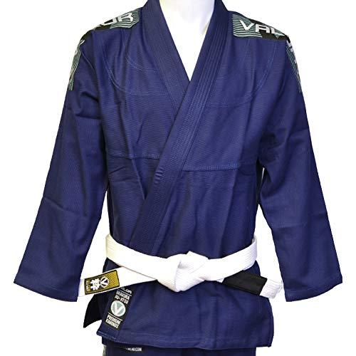 Valor Bravura Kimono BJJ GI color azul marino con cinturón blanco de regalo, A3