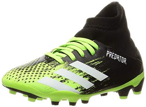 adidas Predator 20.3 MG Niño, Bota de fútbol, Signal Green-White-Core Black, Talla 5.5 UK (38 2/3 EU)