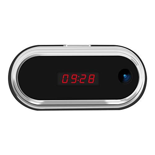 XJYA Wi-Fi Oculto Reloj Despertador Full HD 1080P Video en Tiempo Real Cámara espía Inalámbrico Control Remoto Niñera sincero Monitor Remoto (Cámara Oculta Cuadrada),64G