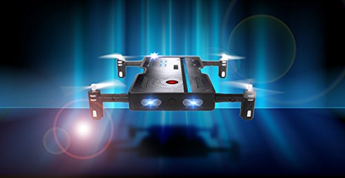 Odyssey Toys ODY-1716NX Real Pocket Drone That Takes HD Video and Pictures. Fold Out Motors Makes it The Same Size as a Smartphone - so it Really Does fit in Your Pocket!