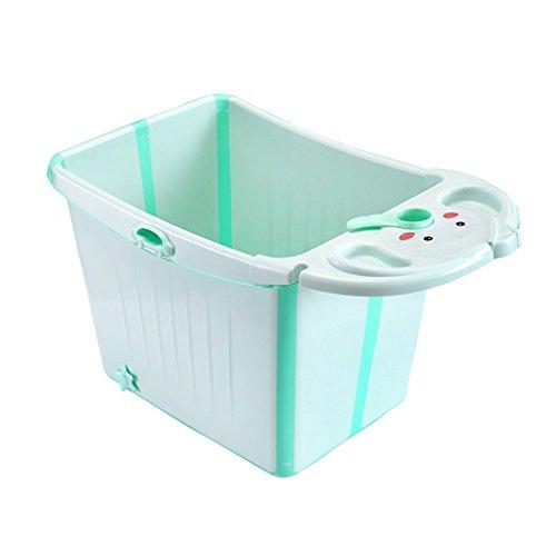 Baignoire bébé pliable multifonctionnel peut s'asseoir Portable ménager en plastique 0-12 ans Bébé Baignoire Confortable Porter/stabilité Portable/matériel de sécurité vert, rose (87 * 47 * 49cm)