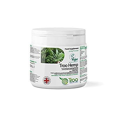 Troo-Hemp Hemp Protein Powder 500g - UK Manufactured To GMP Code Of Practice by Troo Health Care