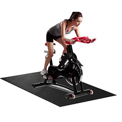 Wateralone Gymnastikmatte Fitness Gummi Schlagmatte Multifunktionale verschleißfeste Laufbandmatte für Laufbänder und andere Fitnessgeräte, für Böden und Teppichschutz