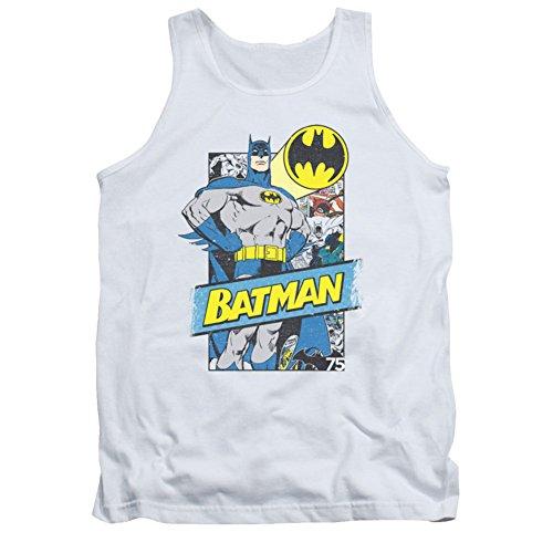 Batman - Männer aus den Seiten Tank-Top, Large, White