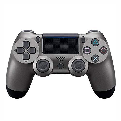 Xcmenl Wireless Controller für PS4 Slim/PS4 Pro,USB Controller für PC,Bluetooth Gamepad mit Dual-Vibration Audiofunktionen Playstation Controller Joystick - Klassisches Grau
