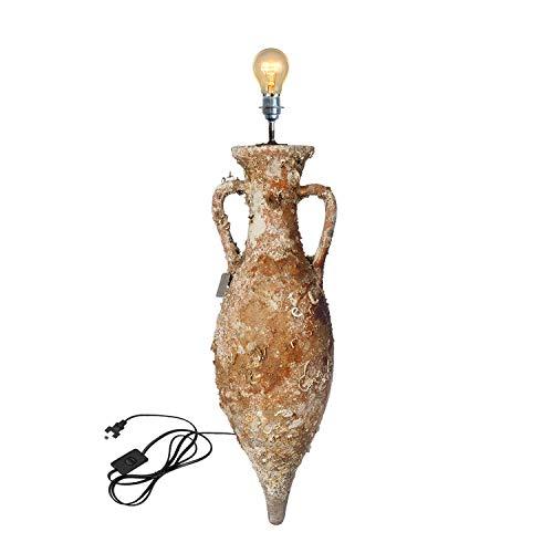 Lámpara Gadir MD40 94x29cm con vida marina. Ánfora replica de las Dressel12 que se fabricaron desde mitad del S.I adC hasta finales de S.II dC a lo largo de la costa sur de España.