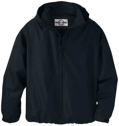 North End Big Mens Techno Lite Lightweight Jacket (Black 2X-T)